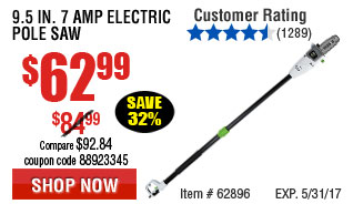 9.5 in 7 Amp Electric Pole Saw