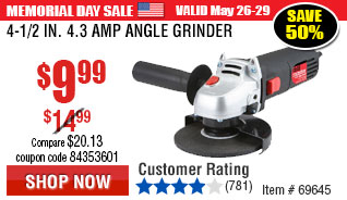 4-1/2 in. 4.3 Amp Angle Grinder