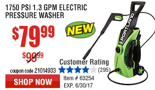 1750 PSI 1.3 GPM Electric Pressure Washer