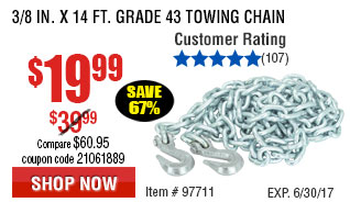 3/8 in. x 14 ft. Grade 43 Towing Chain