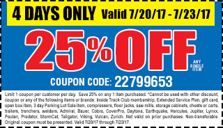 25% off any single item