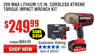 20V Max Lithium 1/2 in. Cordless Xtreme Torque Impact Wrench Kit