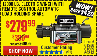Electric Winch with Automatic Load-Holding Brake