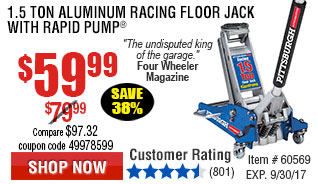 1.5 Ton Aluminum Racing Floor Jack with Rapid Pump®