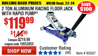 2 Ton Aluminum Racing Floor Jack with Rapid Pump®