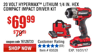 Volt Hypermax™ Lithium  Hex Compact Impact Driver Kit