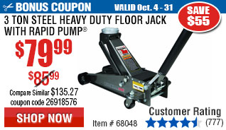 3 ton Steel Heavy Duty Floor Jack with Rapid Pump