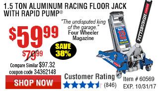 1.5 Ton Aluminum Racing Floor Jack with Rapid Pump