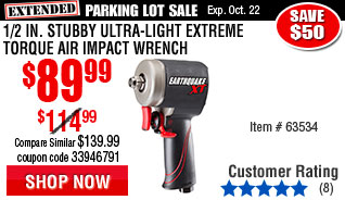 1/2 in. Stubby Ultra-Light Extreme Torque Air Impact Wrench