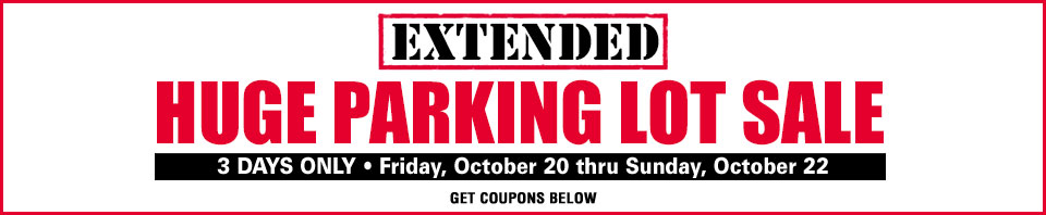 Extended Parking Lot Sale