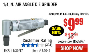 1/4 in. Air Angle Die Grinder