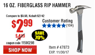 416 oz. Fiberglass Rip Hammer