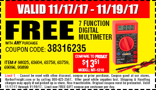 Free 7 Function Digital Multimeter
