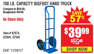 700 lb. Capacity Bigfoot Hand Truck