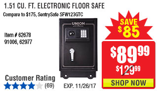 1.51 cu. ft. Electronic Floor Safe