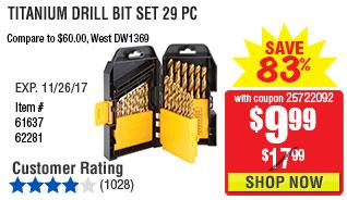 Titanium Drill Bit Set 29 Pc