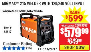 MIGMax™ 215 Welder with 120/240 Volt Input
