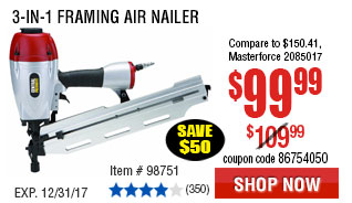 3-in-1 Framing Air Nailer