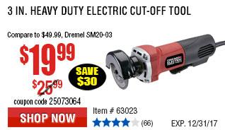3 in. Heavy Duty Electric Cut-Off Tool