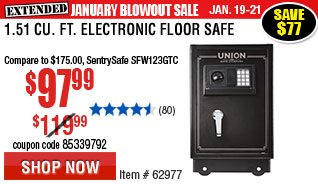 1.51 cu. ft. Electronic Floor Safe