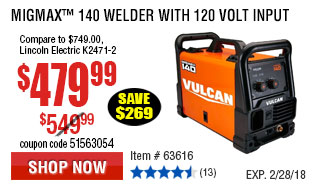 MIGMax™ 140 Welder with 120 Volt Input
