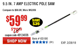 9.5 In. 7 Amp Electric Pole Saw