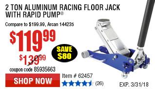 2 Ton Aluminum Racing Floor Jack with Rapid Pump