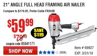 21° Angle Full Head Framing Air Nailer