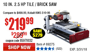 310 in. 2.5 HP Tile/Brick Saw