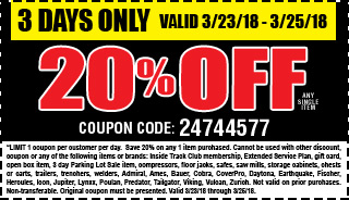 20% off any single item