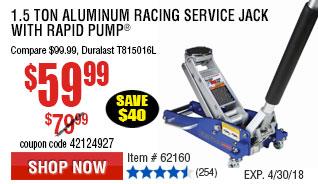 1.5 Ton Aluminum Racing Service Jack  with Rapid Pump
