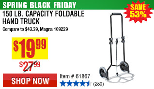 150 lb. Capacity Foldable Hand Truck