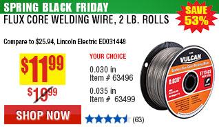 0.030 in. E71T-GS Flux Core Welding Wire, 2 lb. Roll