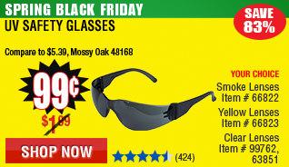 UV Safety Glasses with Lenses