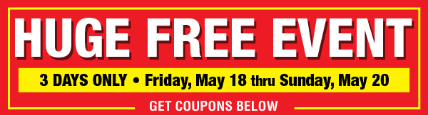 May Huge Free Event
