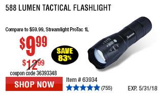 588 Lumen Tactical Flashlight