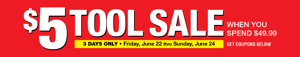 5 Dollar Tools Sale