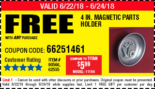 Free 4 in. Magnetic Parts Holder