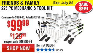 225 Pc Mechanic's Tool Kit