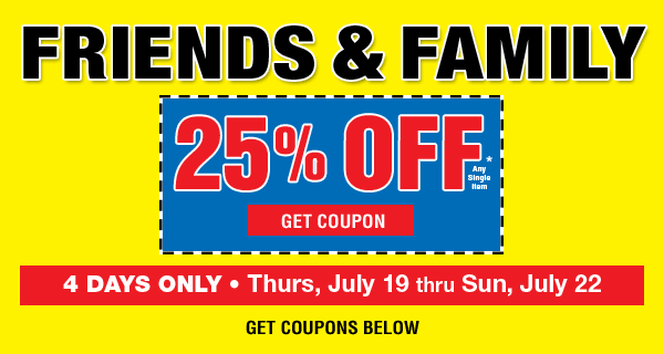 Friends and Family Sale - 25% off any single item