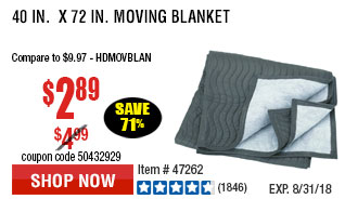 40 in.  x 72 in. Moving Blanket