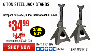 6 ton Steel Jack Stands