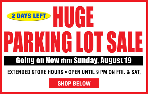 Parking Lot Sale 2 Days Left