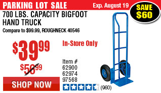 700 lbs. Capacity Bigfoot Hand Truck