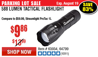 588 Lumen Tactical Flashlight