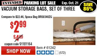 Vacuum Storage Bags, Set of Three
