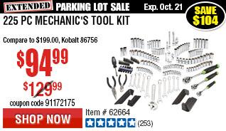 225 Pc Mechanic's Tool Kit