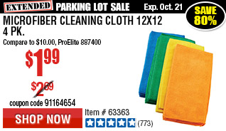 Microfiber Cleaning Cloth 12x12 4 Pk.