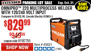 OmniPro™ 220 Multiprocess Welder with 120/240 Volt Input