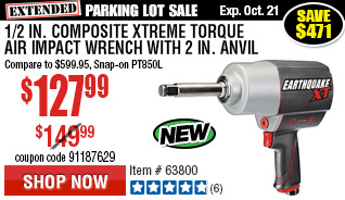 1/2 in. Composite Xtreme Torque Air Impact Wrench with 2 in. Anvil